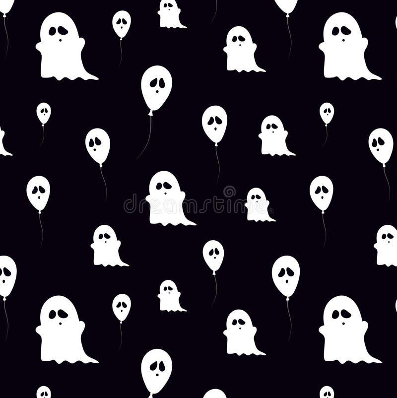 Zwart vectorpatroon met spoken en impulsen stock illustratie