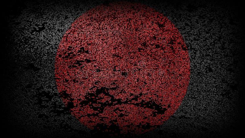 Zwart vierkant met een rode cirkel in het centrum stock afbeelding