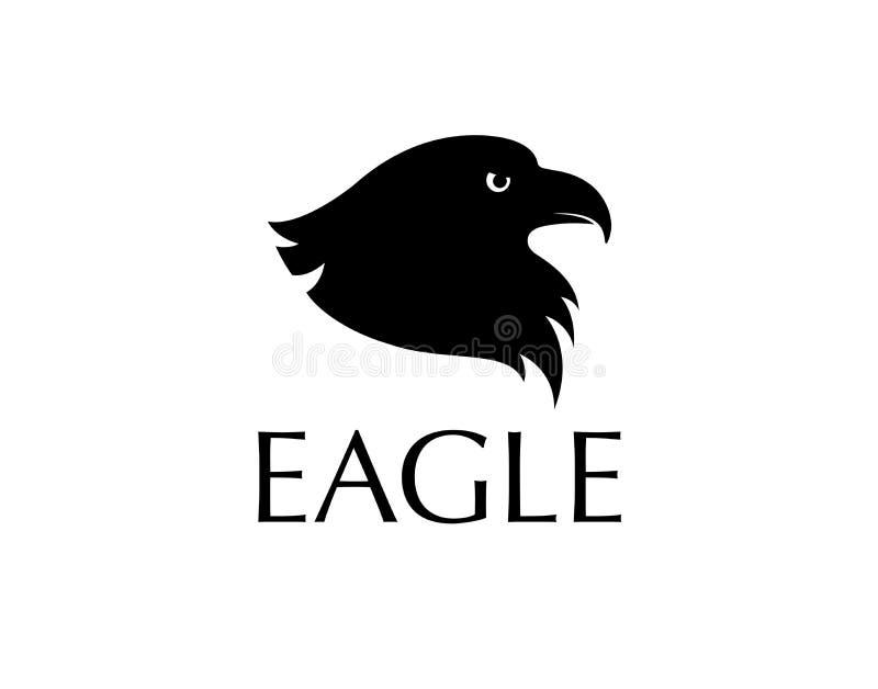 Zwart vogelembleem vector illustratie
