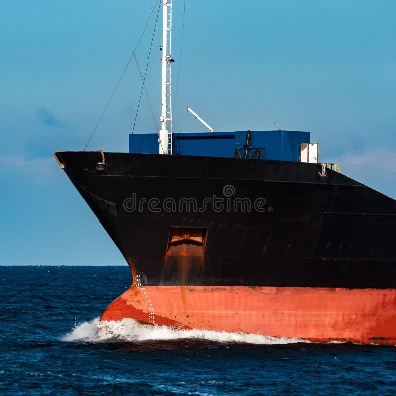 Zwart Vrachtschip royalty-vrije stock foto