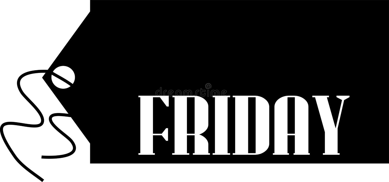 Zwart vrijdagconcept stock illustratie