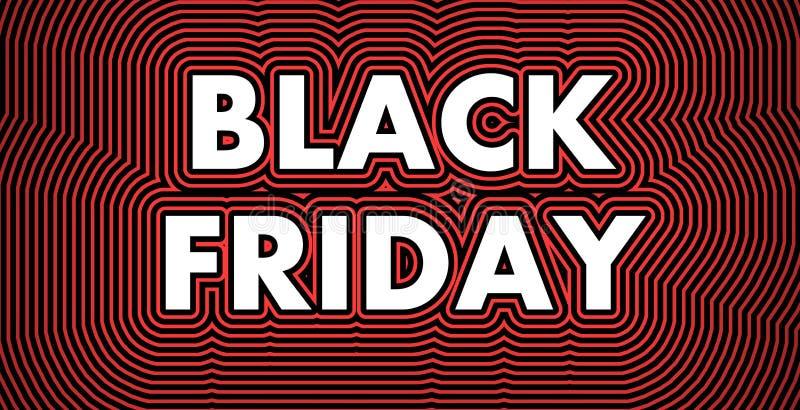 Zwart vrijdagteken vector illustratie