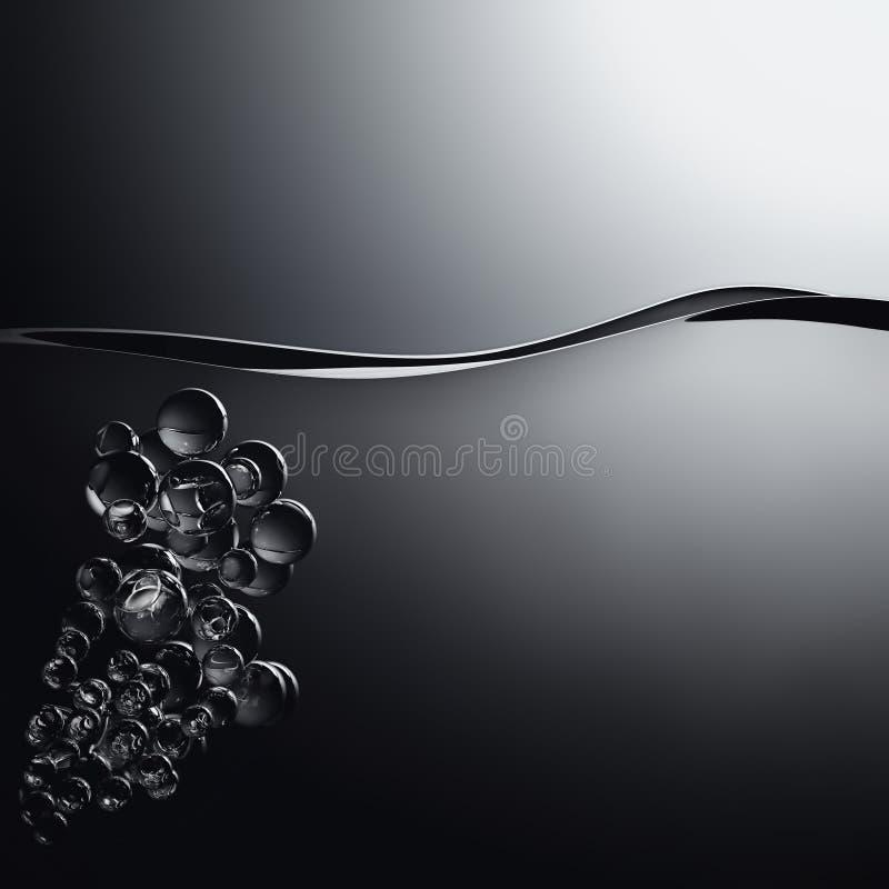 Zwart water vector illustratie