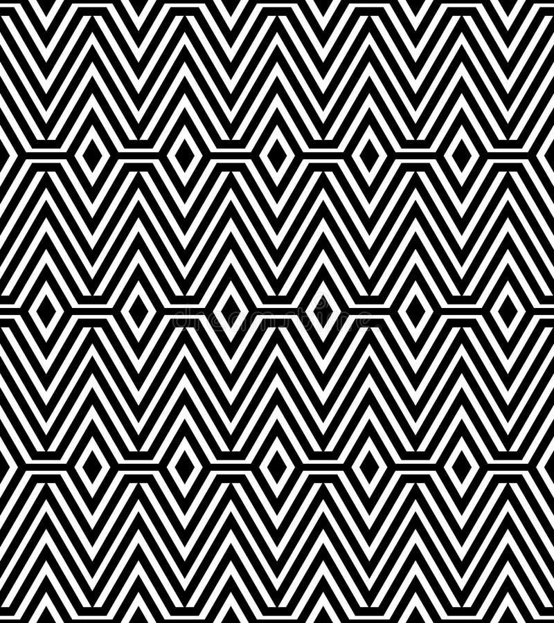 Zwart-wit Abstract Geometrisch Patroon stock illustratie