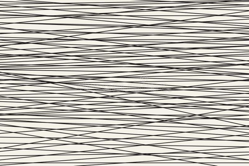 Zwart-wit Abstract horizontaal gestreept patroon Vector royalty-vrije illustratie