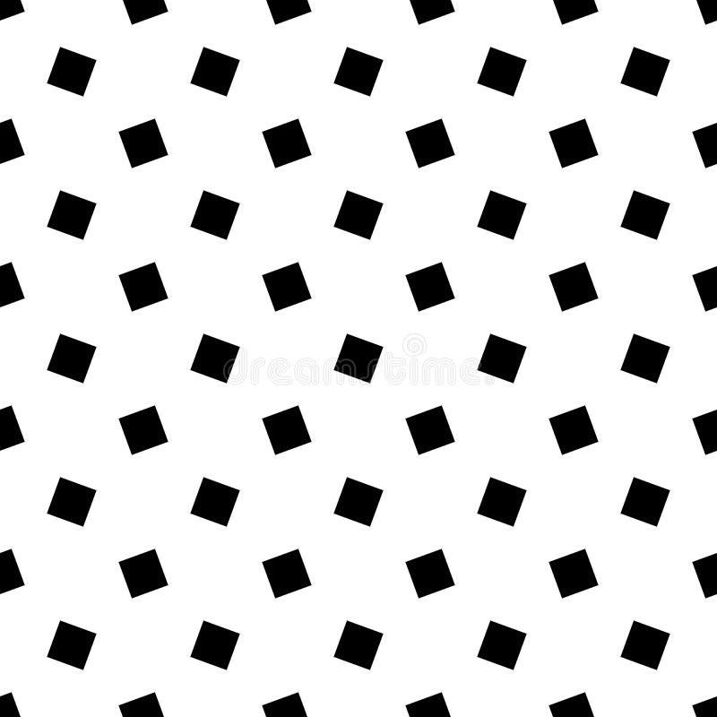 Zwart-wit abstract naadloos geometrisch vierkant patroon - vectorontwerp als achtergrond vector illustratie