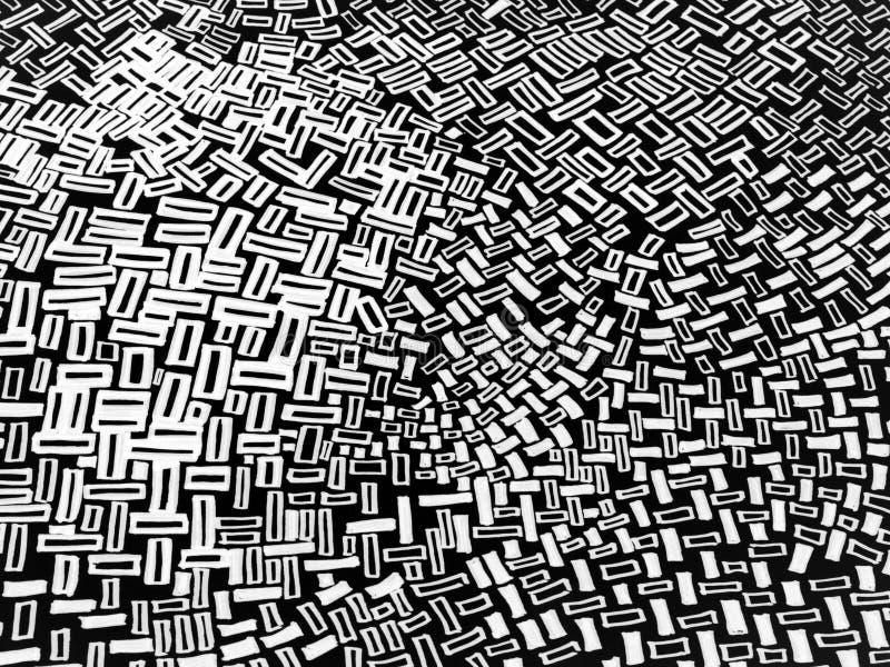 Zwart-wit abstract ontwerp stock illustratie