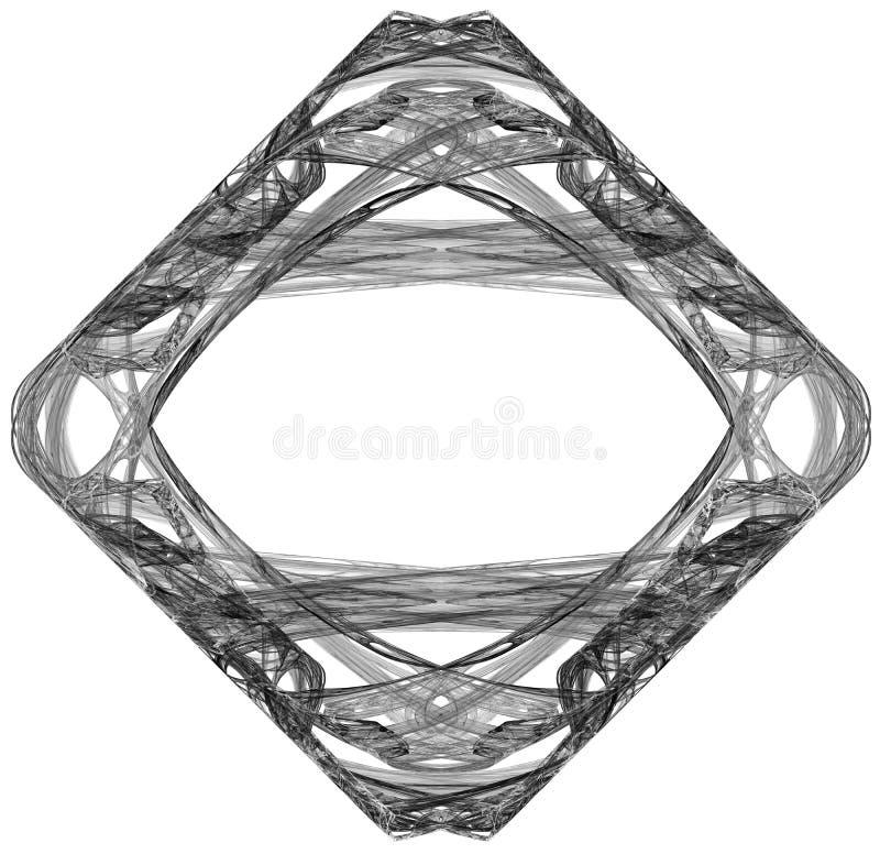 Zwart-wit abstracte fractal illustratie vector illustratie