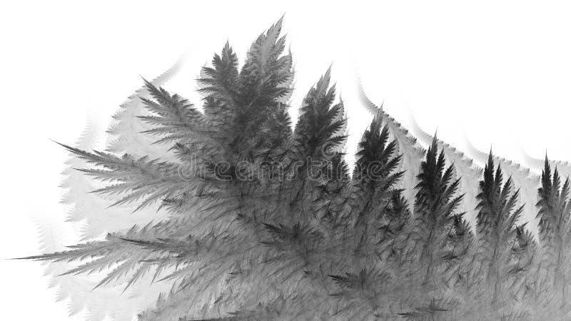 Zwart-wit abstracte fractal illustratie stock illustratie