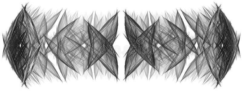 Zwart-wit abstracte fractal illustratie royalty-vrije illustratie
