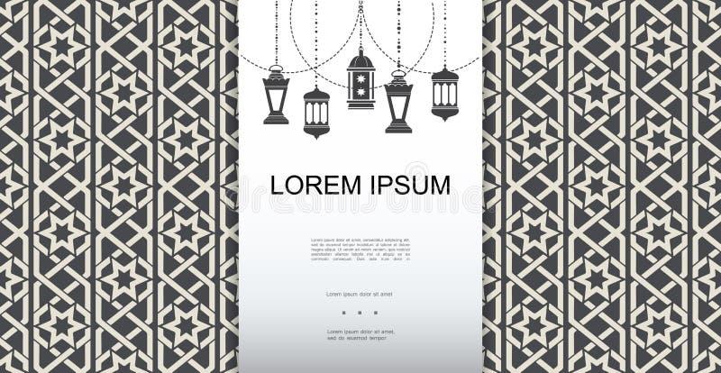 Zwart-wit Arabisch Elegant Malplaatje vector illustratie