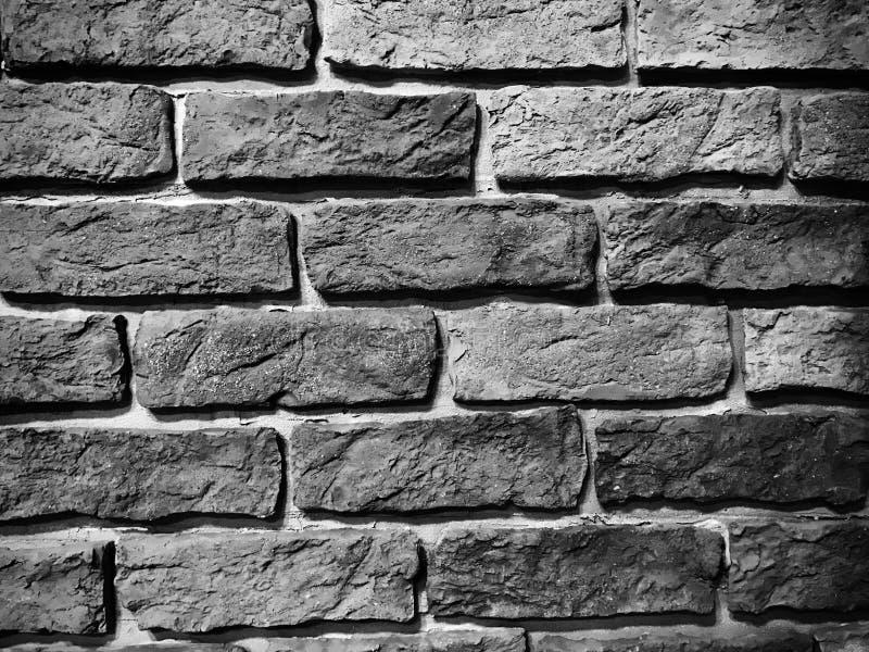 Zwart-wit bakstenen muur stock fotografie