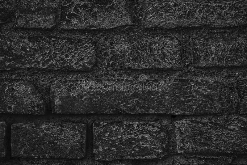 Zwart-wit bakstenen muurtextuur, cementachtergrond voor website of mobiele apparaten royalty-vrije stock foto