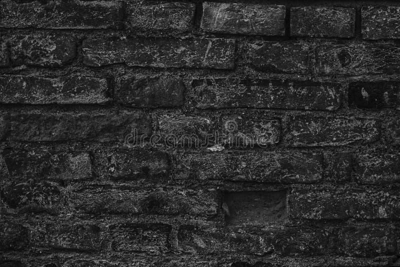 Zwart-wit bakstenen muurtextuur, cementachtergrond voor website of mobiele apparaten royalty-vrije stock afbeelding