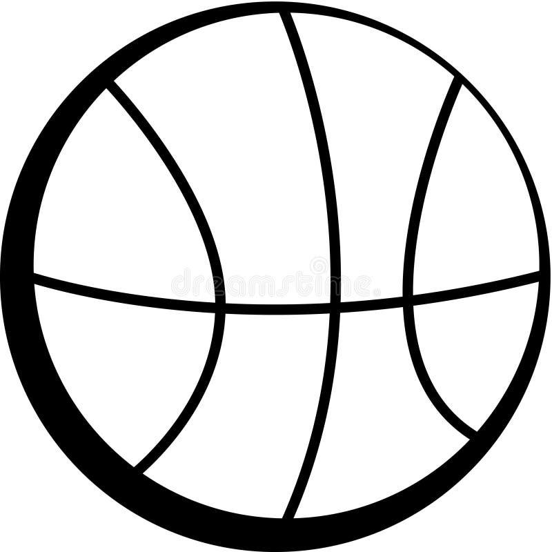 Zwart-wit basketbal stock illustratie