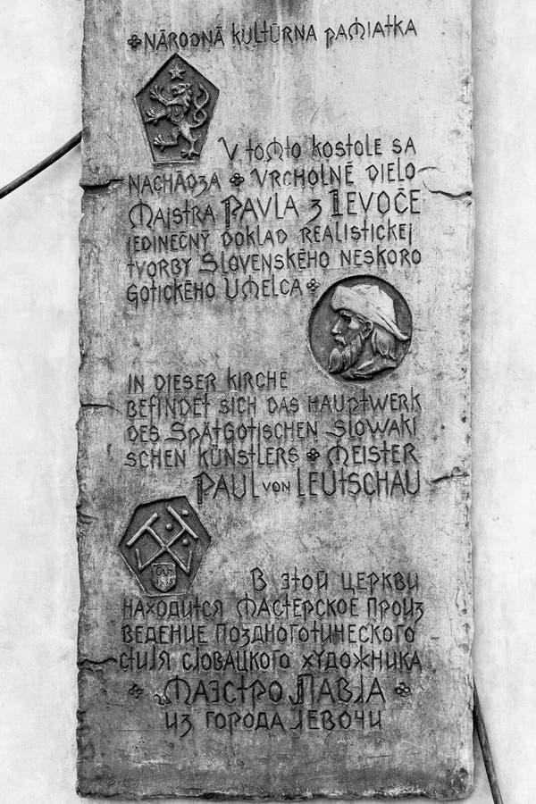 Zwart-wit beeld van gegraveerde plaque royalty-vrije stock afbeelding