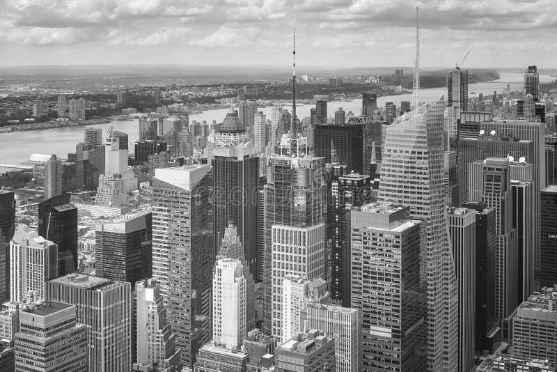 Zwart-wit beeld van Manhattan, New York stock foto