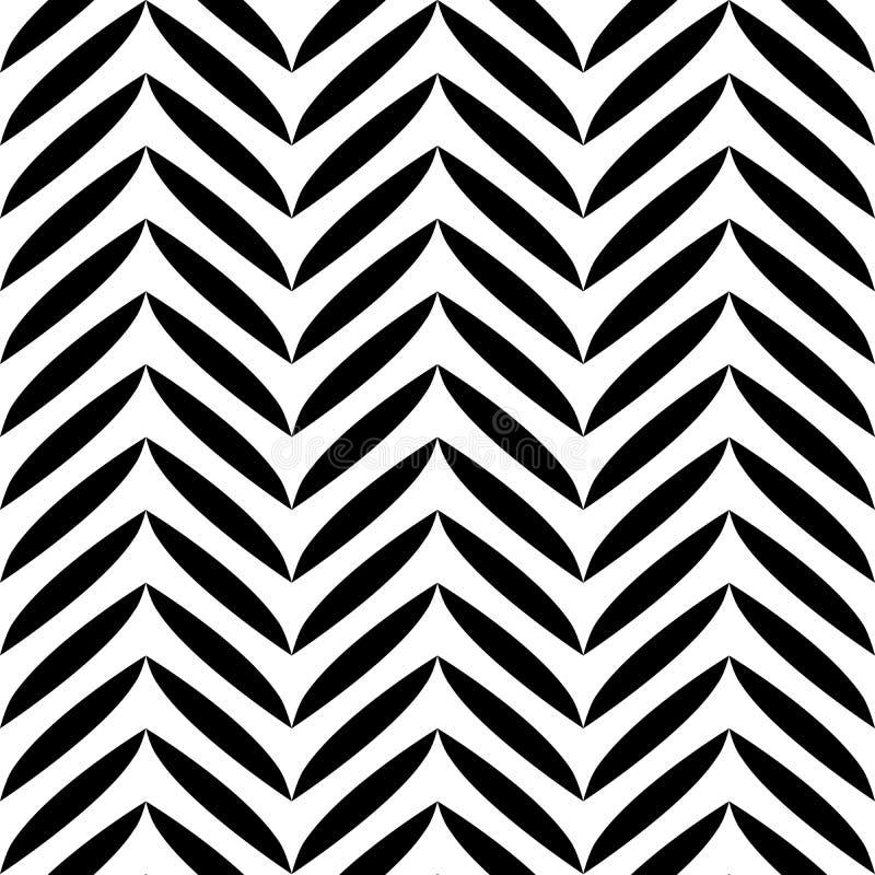 Zwart-wit bladerenpatroon royalty-vrije illustratie