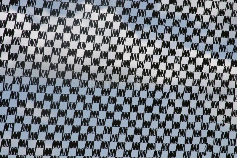 Zwart-wit controlepatroon stock afbeeldingen