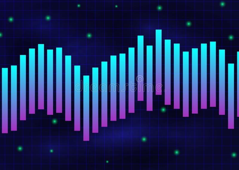 Zwart-wit de textuurachtergrond van de gloed violette blauwe lijn vector illustratie