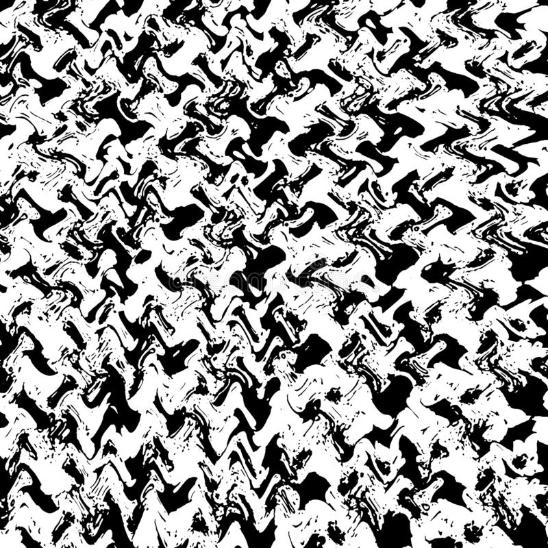 Zwart-wit deeltjes abstracte textuur De achtergrond van barsten, schaaft, breekt, vlekken, inktvlekken, lijnen af Donkere ontwerp stock illustratie