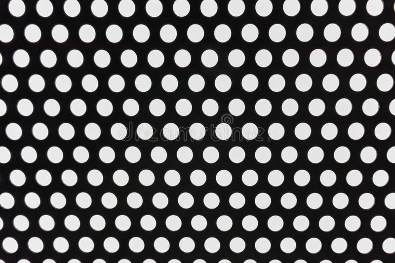 Zwart-wit doted architectuur abstracte achtergrond royalty-vrije stock afbeelding