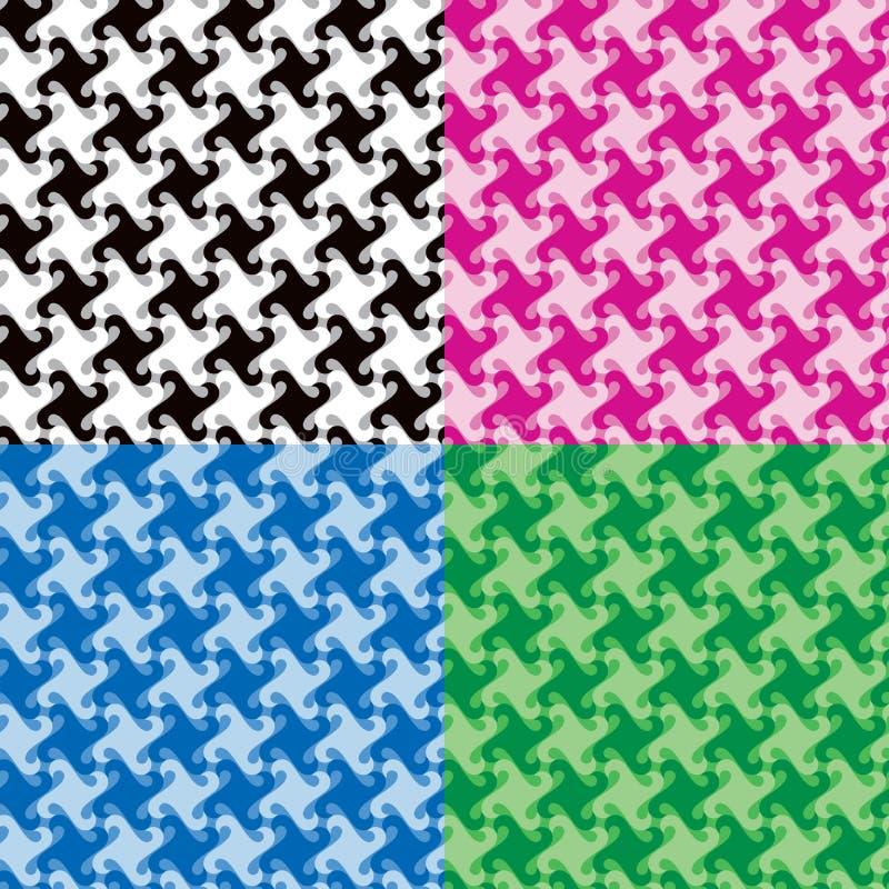 Zwart-wit Draaipatronen vector illustratie