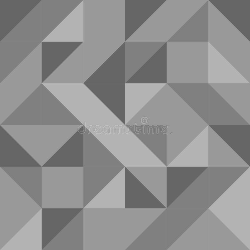 Zwart-wit driehoekig mozaïek naadloos patroon vector illustratie