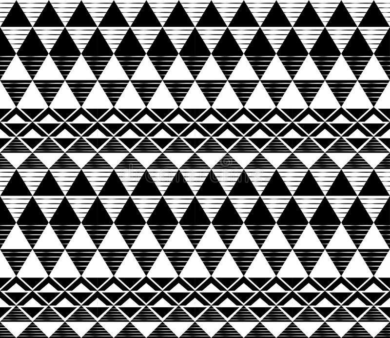Zwart-wit driehoekspatroon royalty-vrije stock afbeeldingen