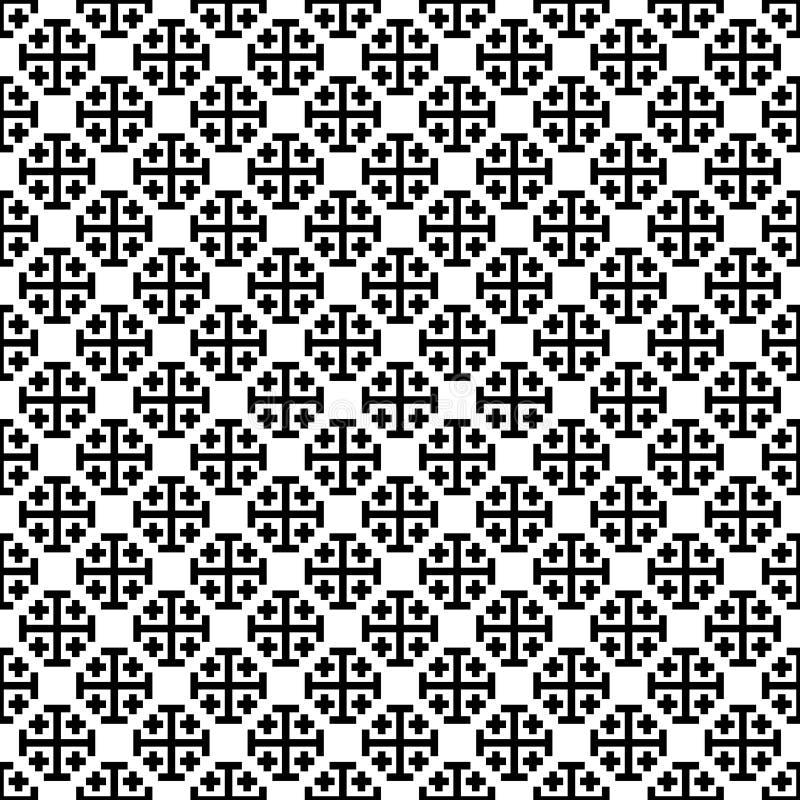Zwart-wit dwarspatroon Black&white vectorillustratie vector illustratie
