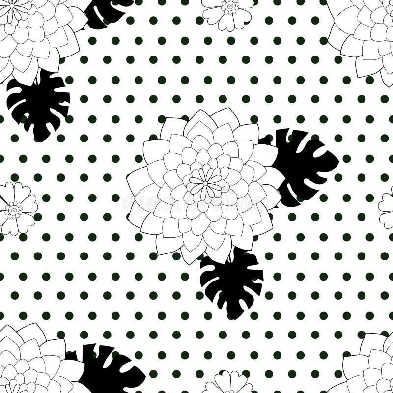 Zwart-wit elegant naadloos patroon vector illustratie