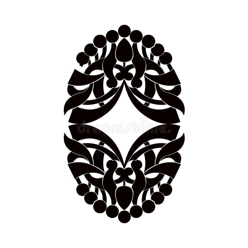 Zwart-wit element vector illustratie