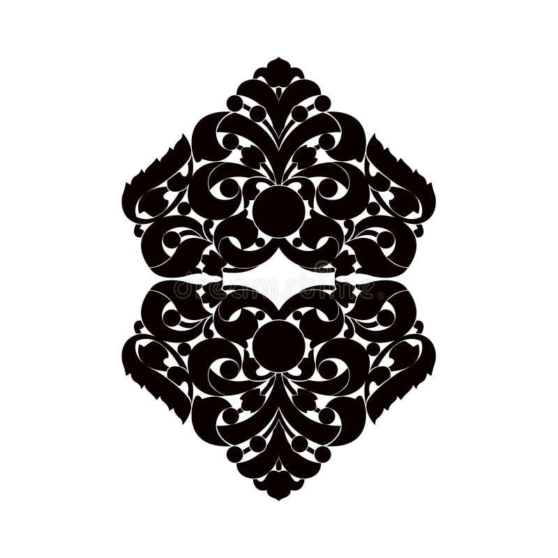 Zwart-wit element stock illustratie