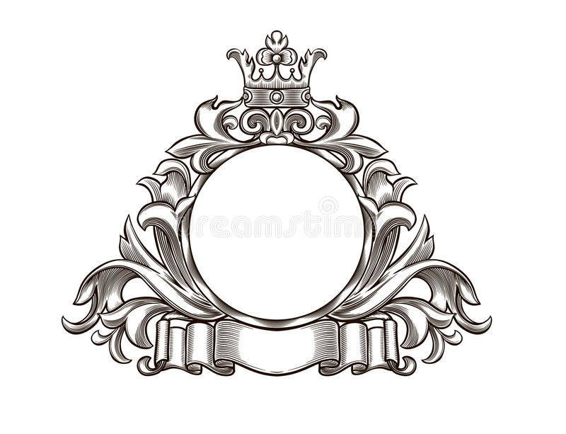 Zwart-wit embleem vector illustratie