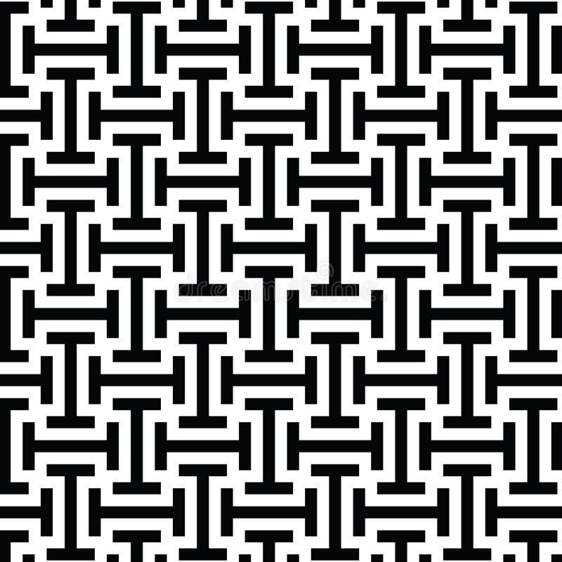 Zwart-wit etnisch op kunst stammenpatroon vector illustratie