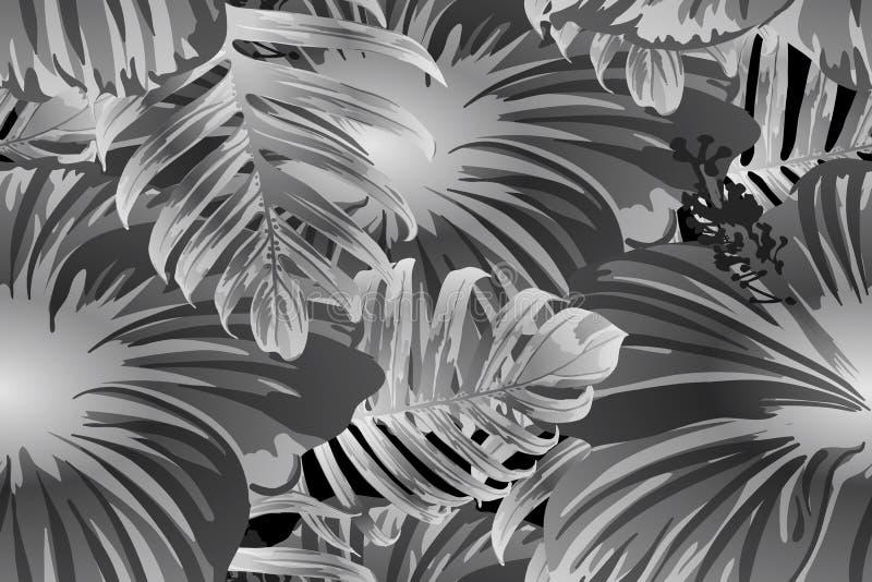 Zwart wit exotisch patroon stock illustratie