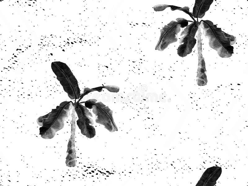 Zwart wit exotisch patroon vector illustratie