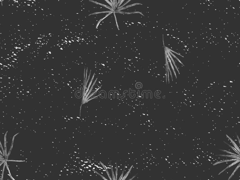 Zwart wit exotisch patroon royalty-vrije illustratie