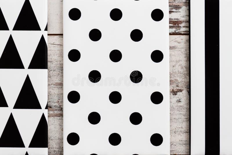Zwart-wit Geometrisch Canvas stock afbeeldingen