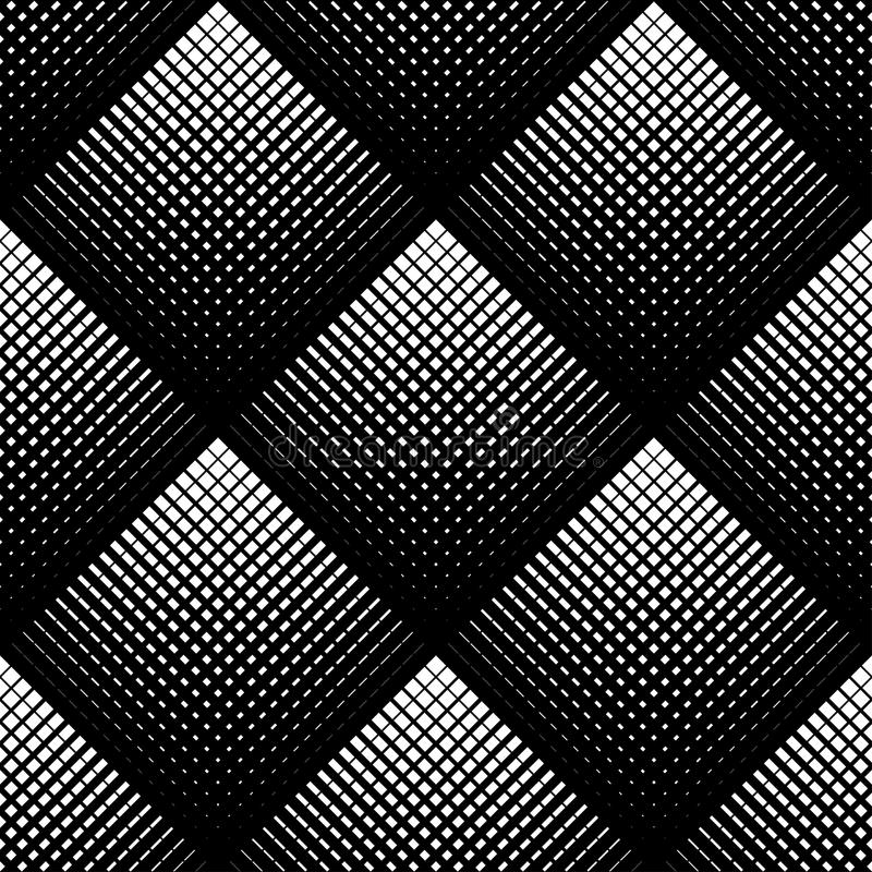 Zwart-wit geometrisch naadloos patroon, abstracte achtergrond stock illustratie