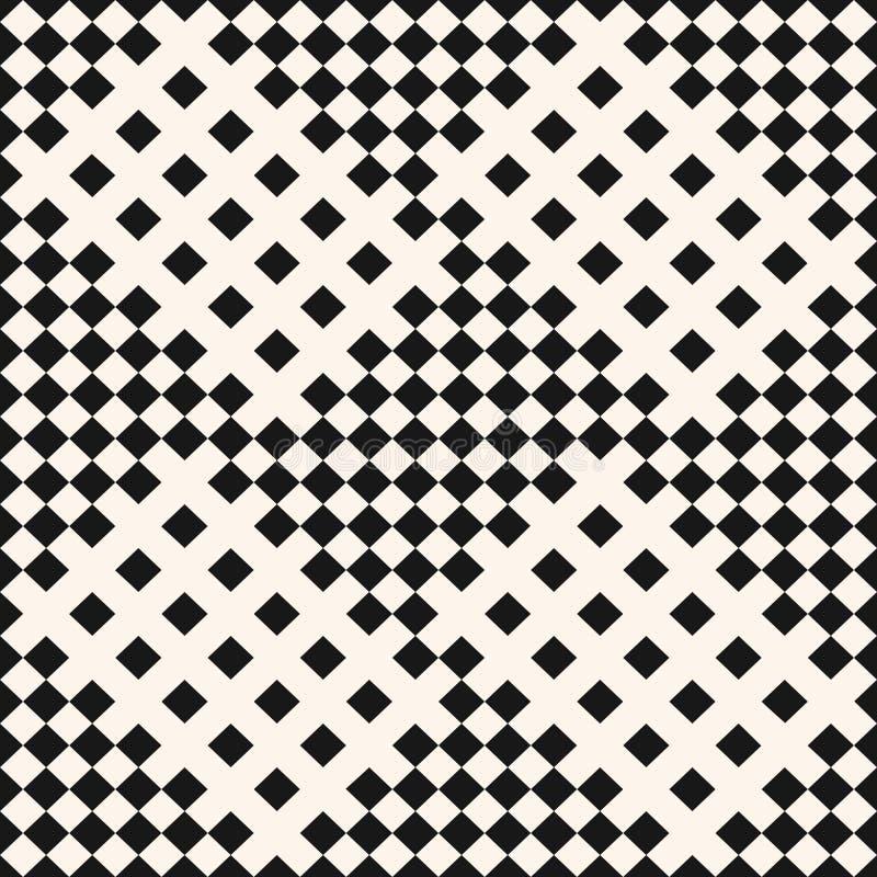 Zwart-wit geometrisch naadloos patroon Geruite achtergrond, plaidtextuur royalty-vrije illustratie