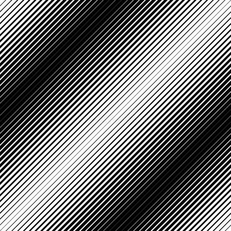 Zwart-wit geometrisch naadloos patroon met lijn, abstracte B stock illustratie