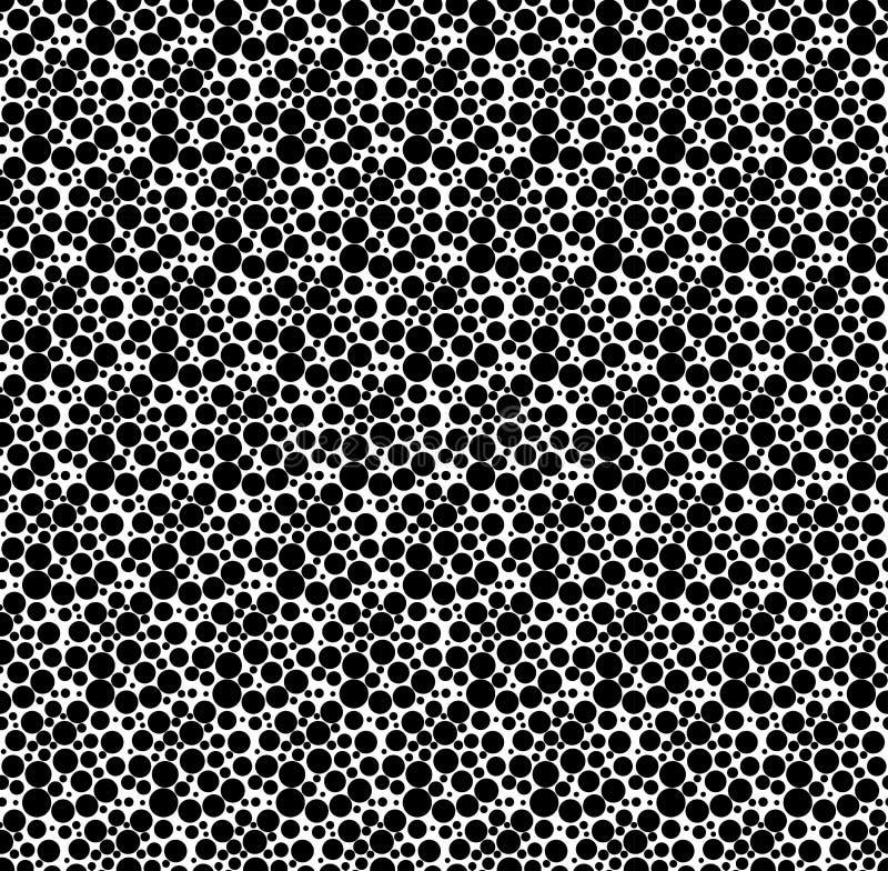 Zwart-wit geometrisch naadloos patroon met punt, abstracte bedelaars stock illustratie
