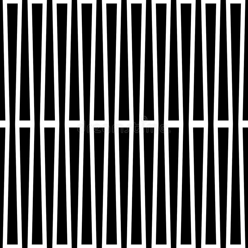 Zwart-wit geometrisch patroon met lijnen Foutloos herhaalbaar stock illustratie