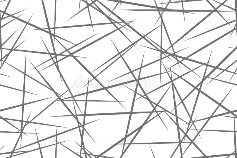 Zwart-wit geometrisch patroon Naadloze abstracte achtergrond Vectorstreep, lijnen Het horizontale patroon van de snelheidslijn royalty-vrije illustratie