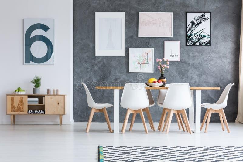 Zwart-wit geometrisch tapijt stock illustratie