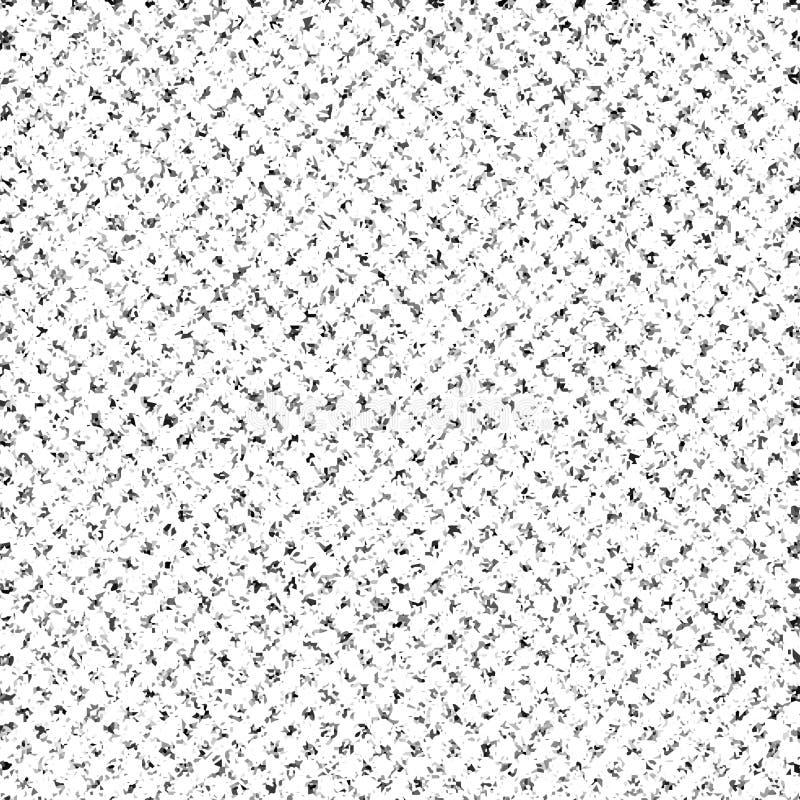 Zwart-wit gespikkeld patroon royalty-vrije illustratie