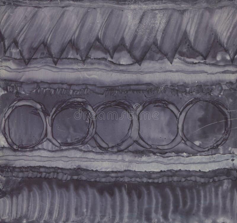 Zwart-wit geweven als achtergrond Geschilderd met inkt en alcohol vector illustratie