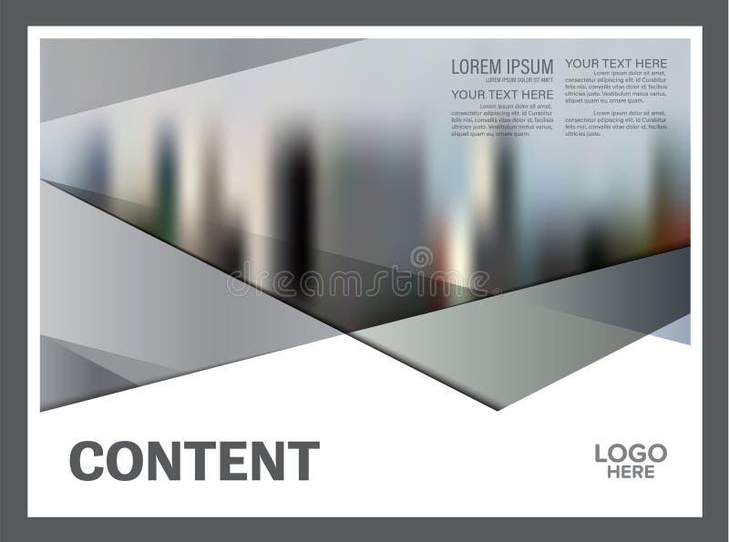 Zwart-wit het ontwerpmalplaatje van de Brochurelay-out Van de het Pamfletdekking van de Jaarverslagvlieger de Presentatie Moderne vector illustratie