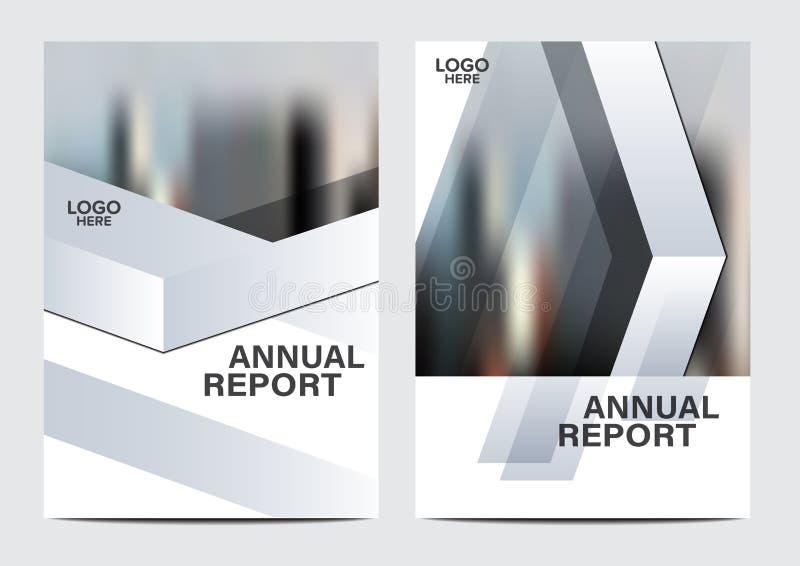 Zwart-wit het ontwerpmalplaatje van de Brochurelay-out Van de het Pamfletdekking van de Jaarverslagvlieger de Presentatie Moderne stock illustratie
